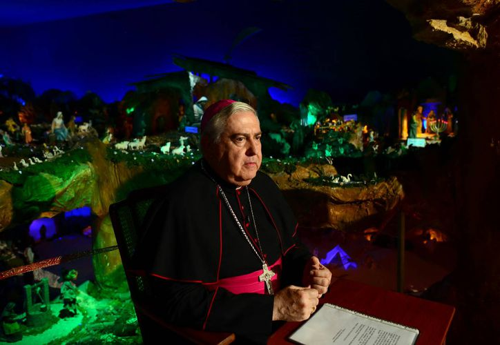 Mons. Berlie Belaunzarán dirigió un mensaje con motivo del Año Nuevo. (Luis Pérez/SIPSE)