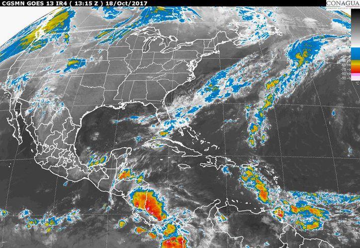 En Quintana Roo se prevé cielo nublado, y tormentas fuertes, según el SMN. (Foto: SMN)