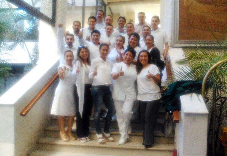 La planilla Blanca, encabezada por Pedro Pech, fue la triunfadora en la jornada electoral, para la elección del nuevo Secretario General de la Sección VI del Sindicato Nacional de Trabajadores del Seguro Social (Sntss) en Yucatán. (Milenio Novedades)