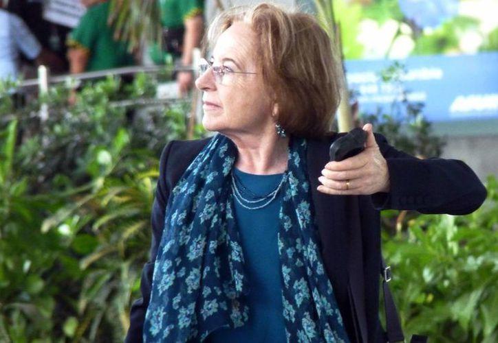 La científica Ana María Cetto Kramis ofreció este sábado una conferencia en el Planetario de Cancún. (Luis Soto/SIPSE)