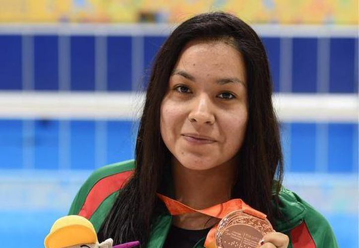 Jessica Hernández conquistó el bronce en la prueba de natación 100 metros estilo libre de los Juegos Parapanamericanos. (Conade)