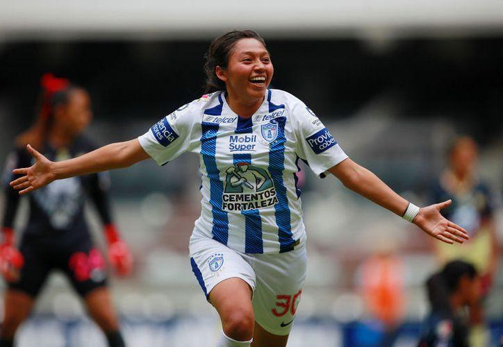 La delantera chetumaleña de los Tuzos continúa acaparando la atención en la Liga MX Femenil. (Ángel Villegas/SIPSE)