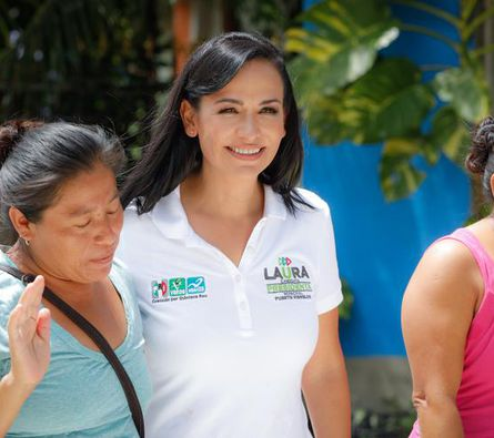 Laura Fernández se declarara ganadora en Puerto Morelos
