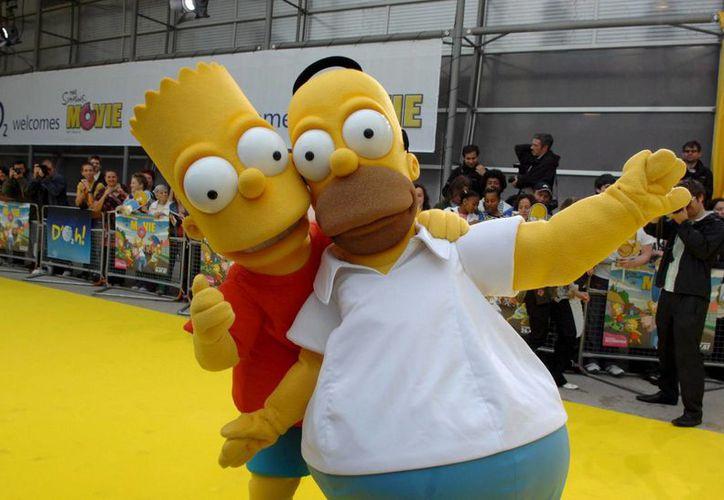La serie de la familia de Homero comenzó a transmitirse a partir del año 1989. 'Los Simpsons' cuentan con 28 temporadas completas y estrenarán la 29 y 30.(EFE)