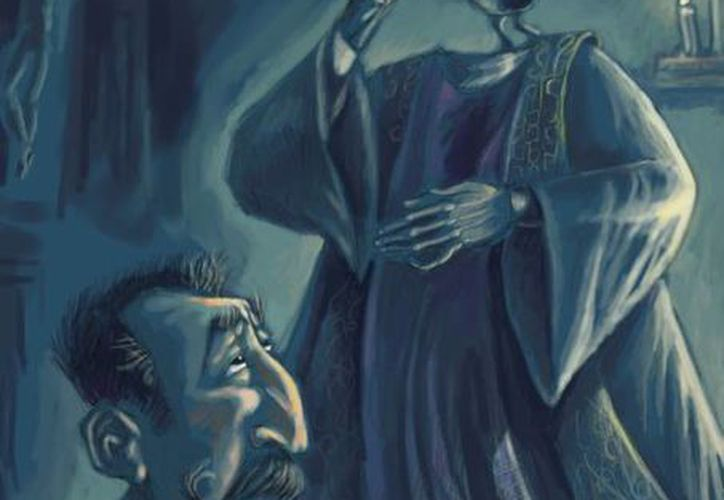 """En la actualidad, el """"sacerdote sin cabeza"""" es representado con la vestimenta católica. (Jorge Moreno/SIPSE)"""