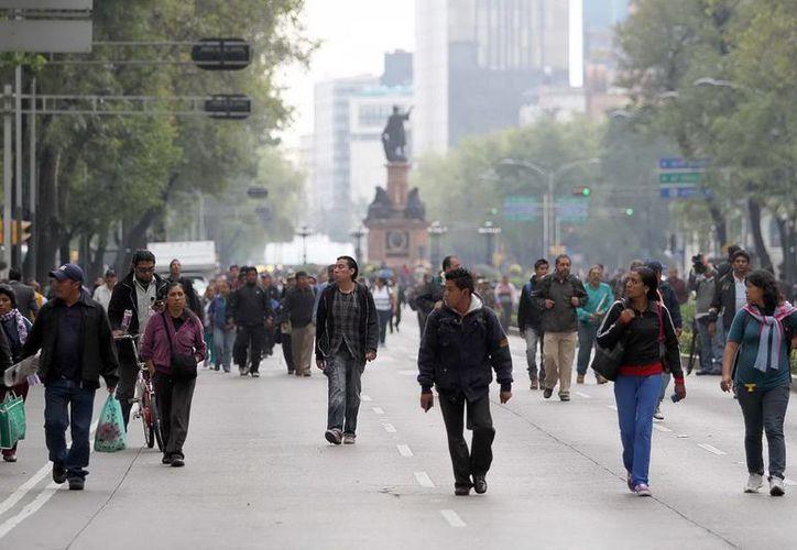 Grave afectación vial y peatonal en la capital mexicana. (Notimex)