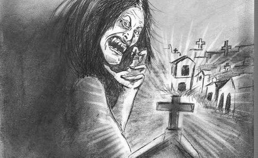 Retrato hablado de 'Don Chulo', con su característica melena sin peinar, cuyo asusta en el Panteón Florido. (Jorge Moreno/SIPSE)