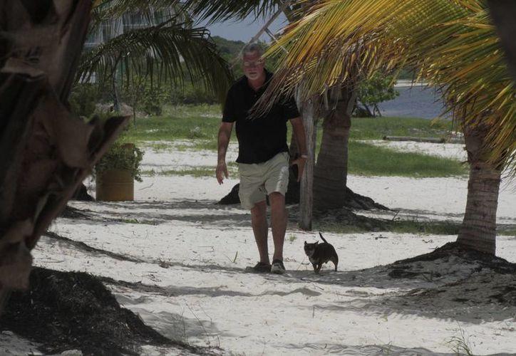 Muchos locales desconocen que existe una playa a la cual pueden acudir con su mascota para pasar un rato agradable. (Tomás Álvarez/SIPSE)
