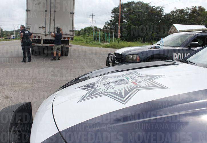Las autoridades afirman que los hechos delictivos son una reacción a los operativos de control. (Benjamín Pat/SIPSE)