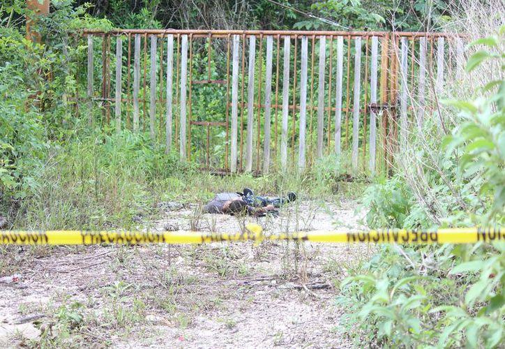 Una mujer encontró el cuerpo sin vida en un camino de terracería en Playa del Carmen. (Redacción/SIPSE)