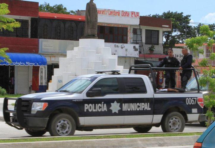 Para este ejercicio, la Policía Municipal Preventiva recibirá 13.8 millones de pesos. (Ángel Castilla/SIPSE)