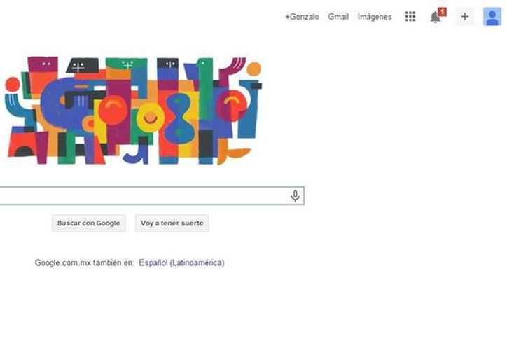 Doodle en honor al pintor y escultor guatemalteco Carlos Mérida, impulsor del muralismo mexicano del siglo XX. (Captura de pantalla)