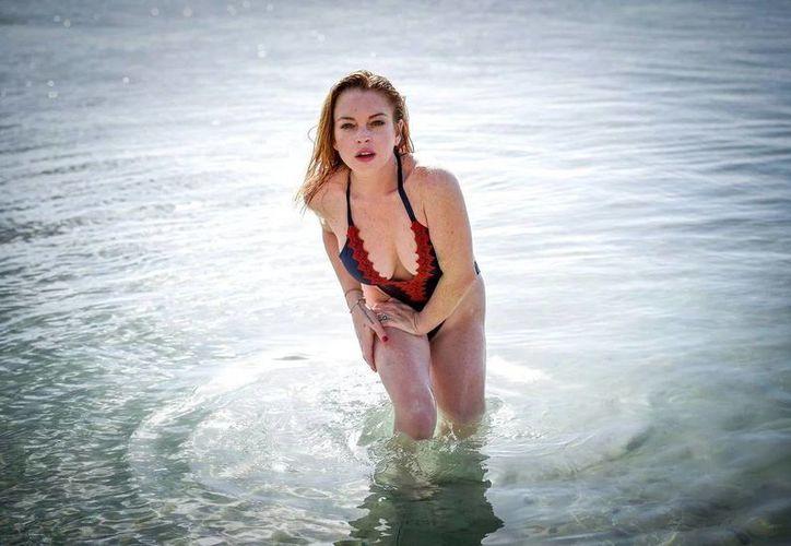 Lindsay Lohan ahora luce en gran forma y disfrutando de sus vacaciones en Isla Mauricio, en África. (Excelsior)