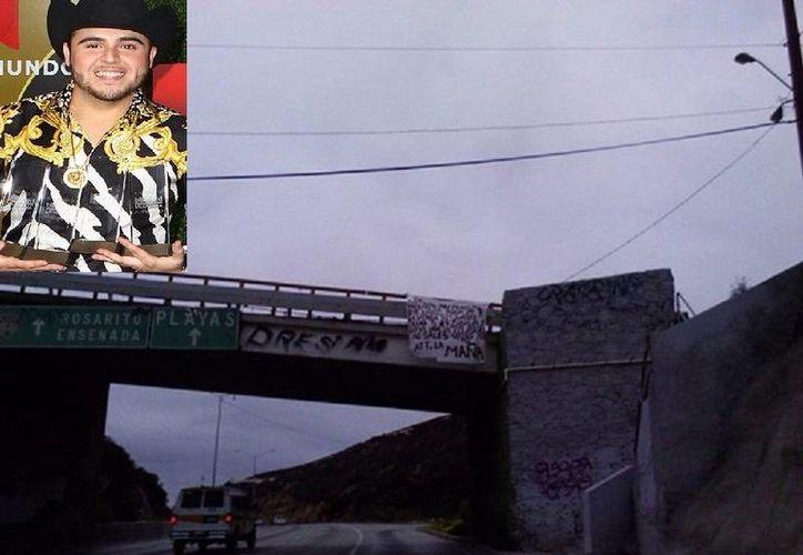 Los narcos amenazaron a Gerardo Ortiz con que no saldría vivo de su concierto en la Monumental Plaza de Toros de Playas de Tijuana. (Fotos tomada de diariopresente.com.mx y billboard.com)