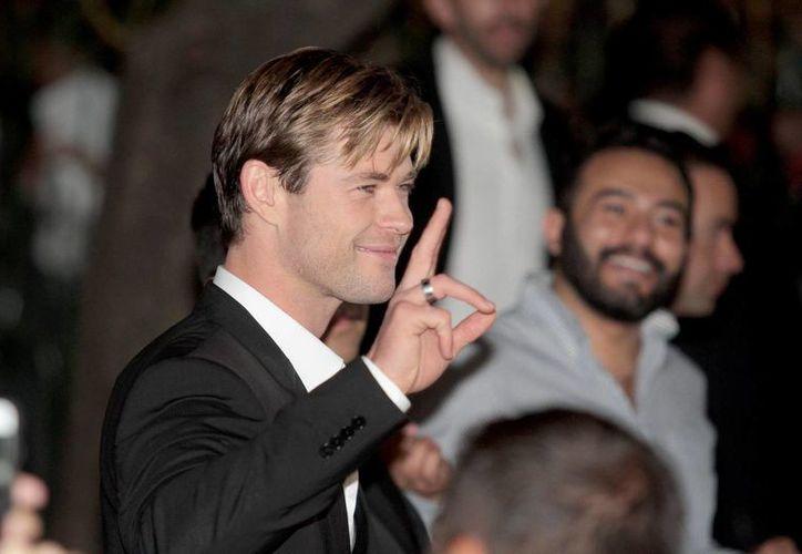 El actor australiano Chris Hemsworth, quien se hizo famoso mundialmente por los filmes en los que actúa como Thor, convivió en México con sus fans en el marco de la entrega del Premio a la Grandeza del Cine en México. (Notimex)