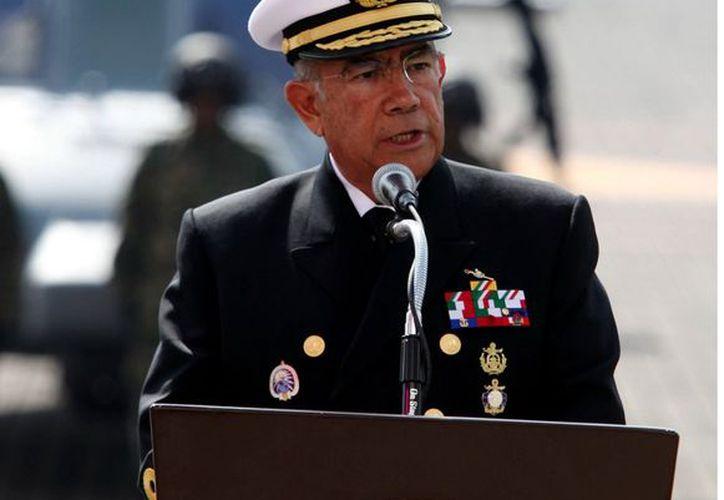 El Secretario de Marina, Almirante Mariano Francisco Saynez Mendoza,  dejará su cargo en los próximos días. (REFORMA)
