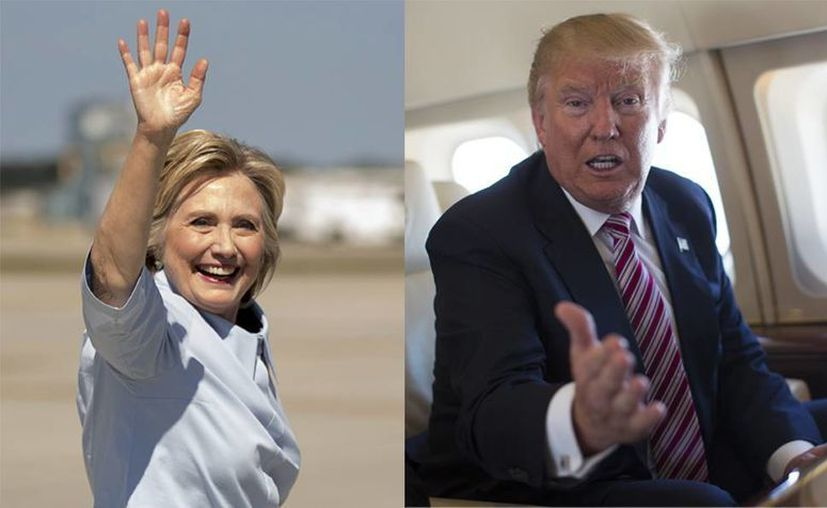 Las matemáticas favorecen a Hillary Clinton sobre su contrincante Donald Trump. (AP)