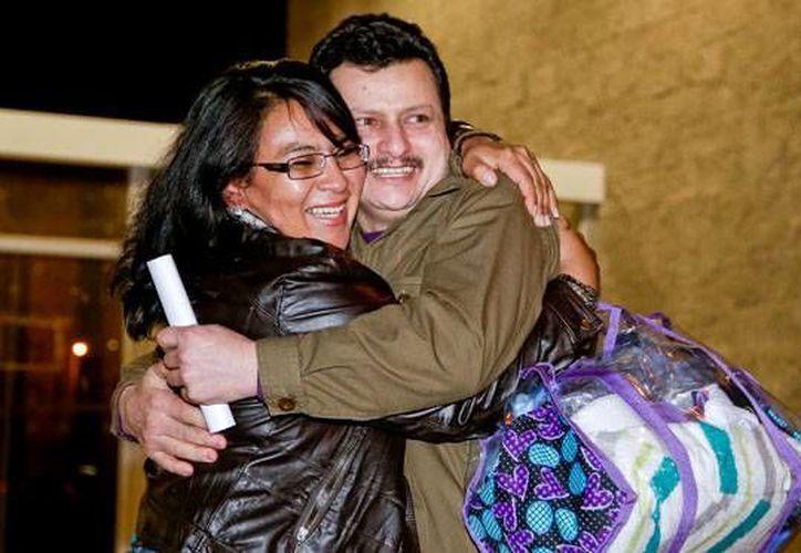 Ariel Josué Martínez recuperó su libertad este miércoles después de estar recluido en la cárcel La Picota. (Mauricio Alvarado/Colprensa)