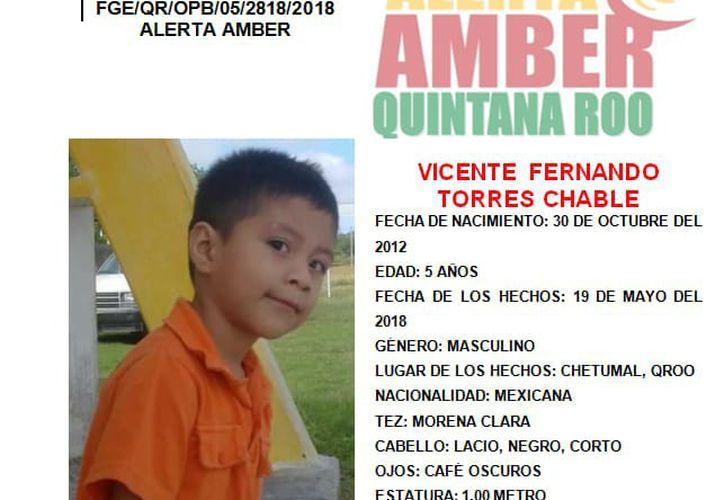 El menor se encuentra desaparecido desde el 19 de mayo de este año. (Alerta Amber)