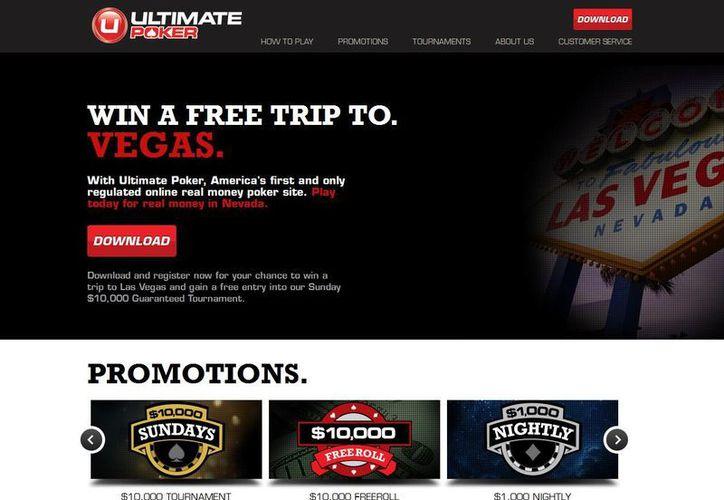 La página, UltimatePoker.com, tendrá un aspecto familiar para quienes se embarcaron en la locura del póquer en la década del 2000. (ultimatepoker.com)