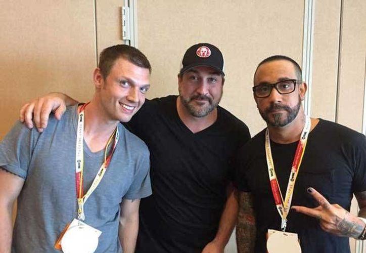 Nick Carter (Backstreet Boys), Fatone y A J McLean (N' Sync) harán un filme que servirá para terminar con el mito de rivalidad entre los grupos pop. (Comic-Con)