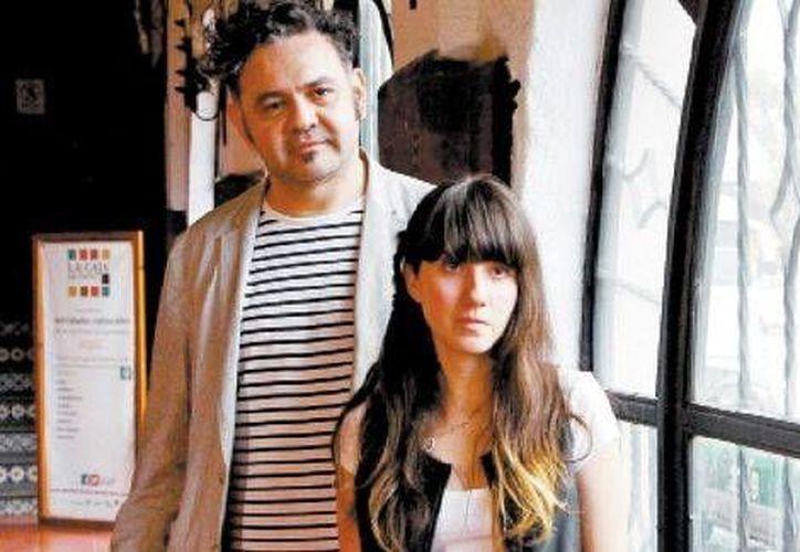 Rangel (de Café Tacuba) y Priscila González, vocalista de Quiero Club. (Milenio Digital)