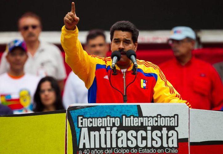 """Maduro dijo hoy que no habrá buenas relaciones con EU hasta que ese país """"entienda"""" que es necesario un diálogo basado en el respeto mutuo. (Archivo/EFE)"""