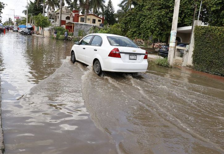 La zona más inundada fue en los alrededores de Plaza Las Américas, donde fue necesaria la presencia de servicios públicos. (José Acosta/Milenio Novedades)