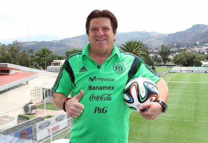 El estratega mexicano se despidió de Brasil, satisfecho por el desempeño de sus jugadores. (Notimex)