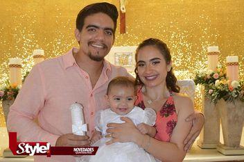 Recibe bautismo Sofía Alfaro Hanouche