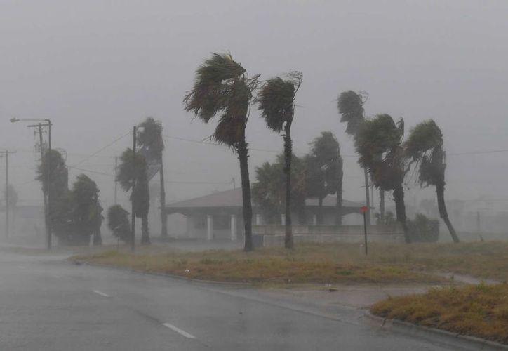 Las bandas externas de viento del huracán Harvey, de categoría 4, comenzaron a sentirse sobre la costa sureste de Texas. (Contexto/Internet).