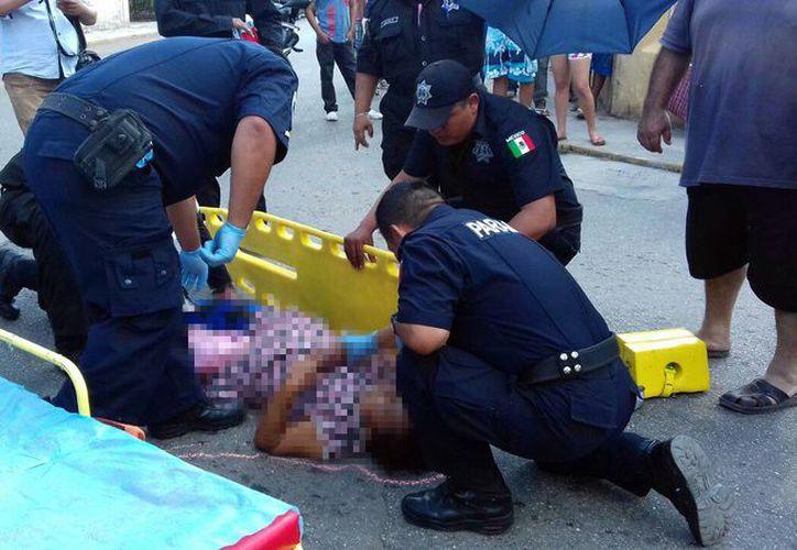 La mujer, atropellada en Umán, falleció a causa de las heridas causadas por el golpe de una camioneta. (SIPSE)