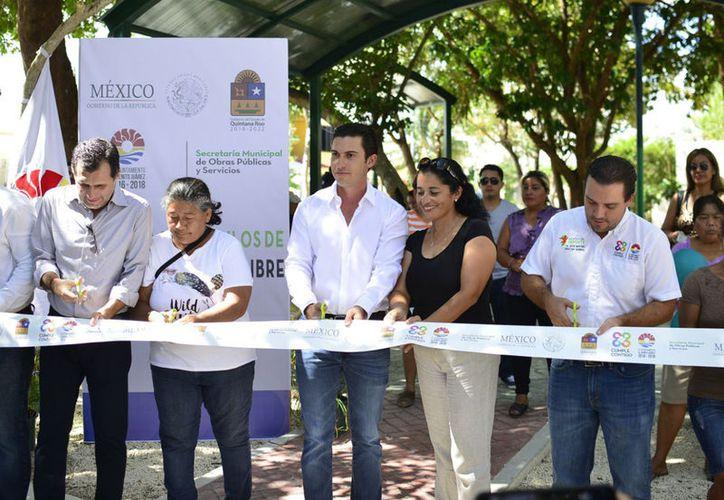 Las autoridades pusieron en marcha las obras en Benito Juárez. (Cortesía)