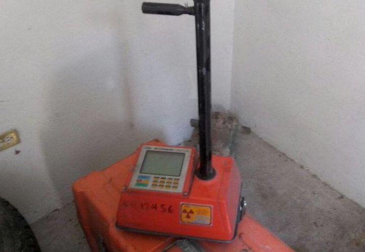 Esta fuente radiactiva fue robada el pasado 5 de agosto en el Estado mexicano de Sonora. (twitter.com/LUISFELIPE_P)