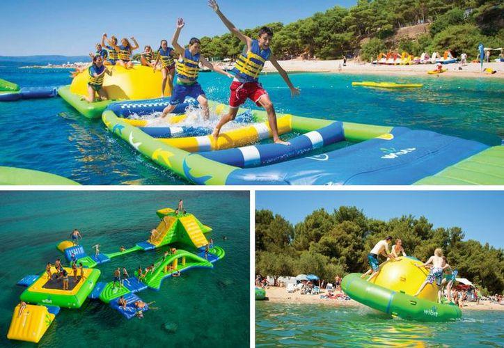 Los atractivos flotantes se instalarán a  Paya Langosta, Plaza Forum, Playa Chac Mool, Playacar, Plaza Tulum Paraíso, Mamitas y Maya. (Foto: Contexto/Internet)
