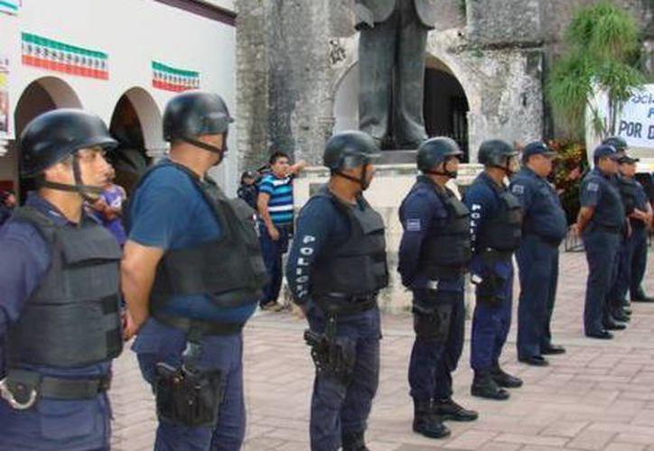 El pago del aumento a los policías será en la primera quincena de junio. (Manuel Salazar/SIPSE)