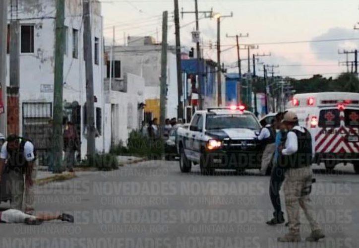 Se llevan a cabo las indagatorias por elementos de la policía municipal. (Foto: Eric Galindo)