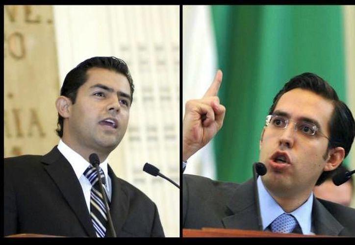 Sergio Israel Eguren Cornejo (izquierda) y Rafael Miguel Medina Pederzin son dos de los funcionarios mexicanos que viajaron a Brasil debido al Mundial, pero los arrestaron y permanecen ahí. (lajornadajalisco.com.mx)