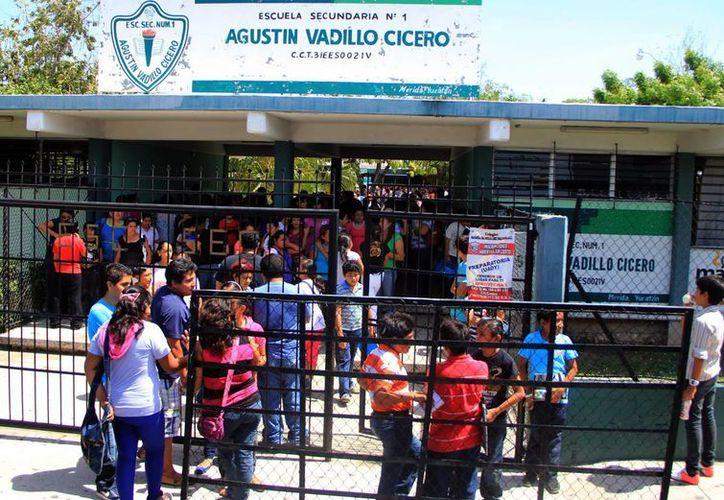"""La """"Agustín Vadillo Cicero"""", una de las secundarias más solicitadas. (SIPSE)"""