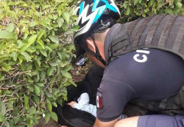 El bebé de tres meses de nacido fue hallado en una jardinera en Aguascalientes. (Foto: Excélsior)