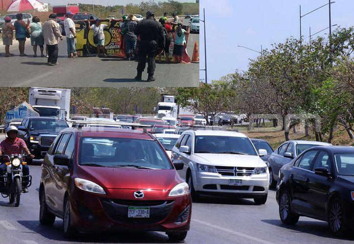Desde hace horas el tráfico se frenó en el Periférico debido a esta protesta. (Fotos: Jorge Acosta/Milenio Novedades)