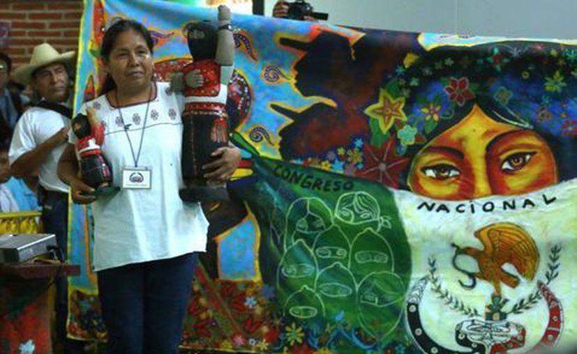 María de Jesús Patricio Martínez es la candidata independiente presentada por el EZLN para la presidencia de México. (Foto: Milenio.com)