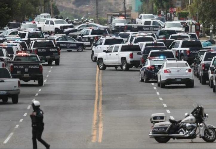 Se registró un enfrentamiento entre policías y el agresor en Playas de Tijuana. (MVS)