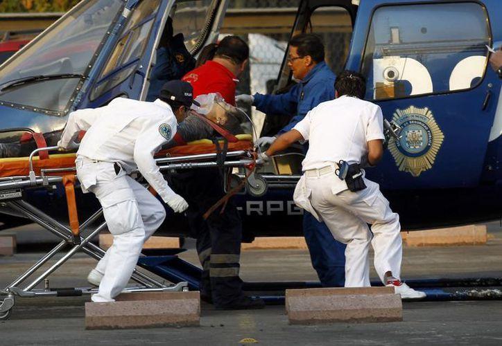 Los heridos fueron trasladados al hospital por medio de helicópteros. (Agencias)