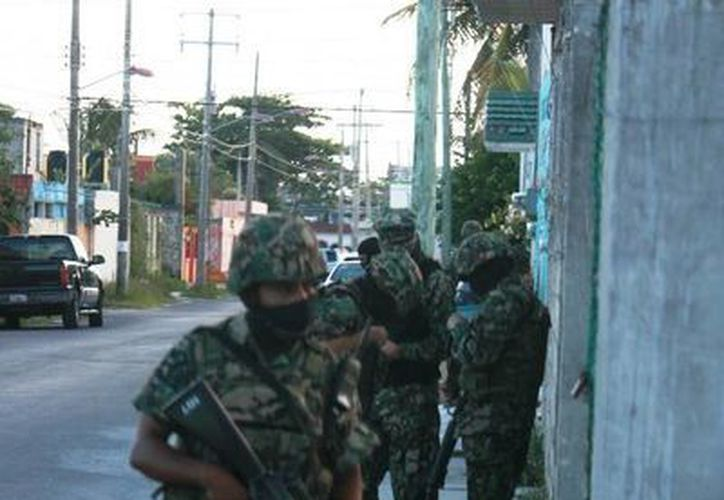 La Secretaría de la Defensa Nacional trabaja sin tregua en la lucha contra el narcomenudeo en la geografía cozumeleña. (Irving Canul/SIPSE)