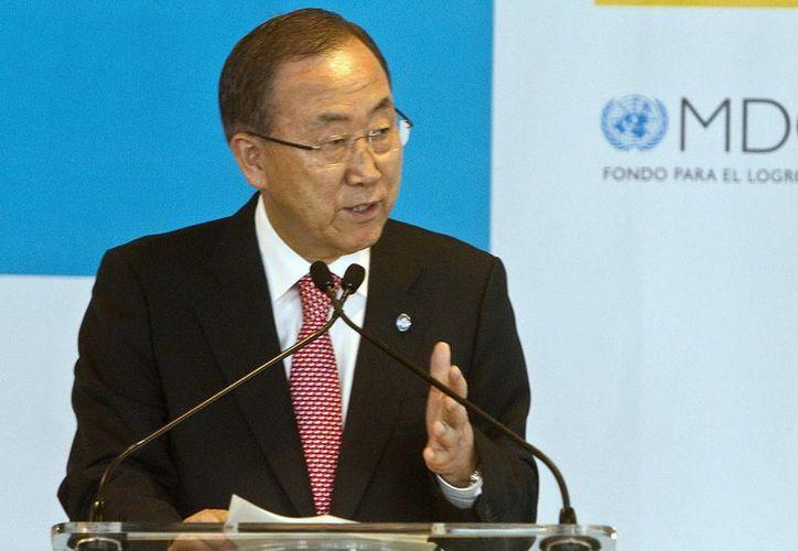 Ban Ki-moon dijo que el saneamiento es un tema central para la salud humana y para el medio ambiente. (EFE)
