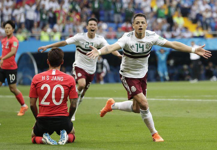 #Afición #Mundial #Rusia2018 'Chicharito', máximo goleador en la historia de la Selección Mexicana, ahora suma tres Mundiales anotando ¿Qué más se puede pedir? (Foto: AP)
