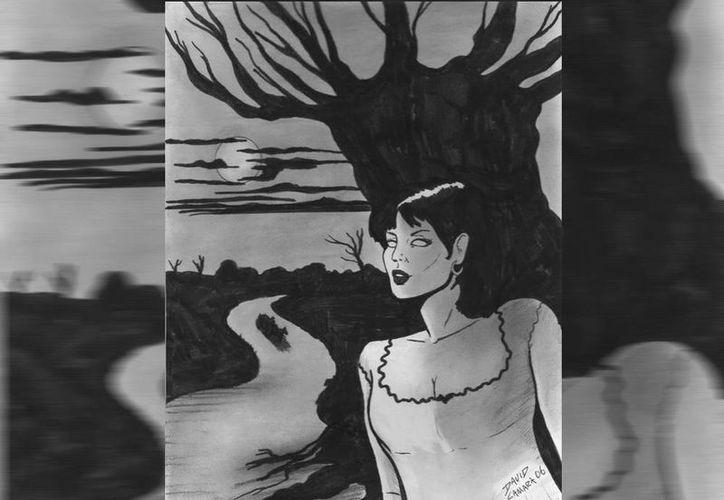 Según la leyenda, la guapa mujer conocida como Xtabay se esconde detrás de ceiba en espera de sus víctimas. (Jorge Moreno/SIPSE)