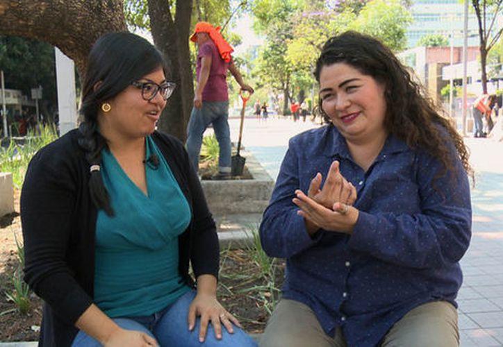 Ana Herrera aceptó la candidatura por el apoyo que ha recibido de la Comunidad de Sordos y Oyentes. (Foto: Milenio.com)