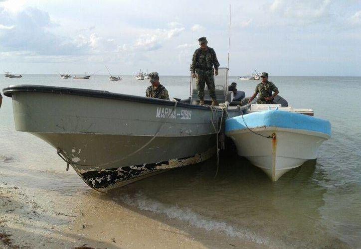 La Secretaría de Marina se ha sumado a la búsqueda de pescadores extraviados frente a las costas de Progreso. (SIPSE)
